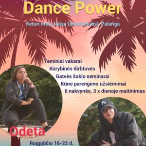 """Stovykla ,,Dance power"""" Palangoje!"""